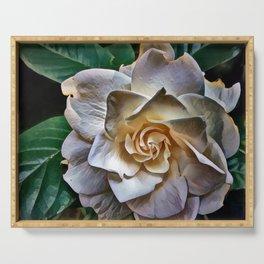 White Gardenia Serving Tray