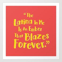Latina Pride Art Print