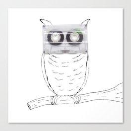 Owl cassette Canvas Print