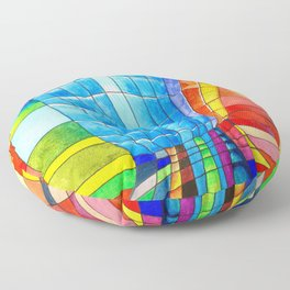I go out with you(tube). You go out with me(ssenger)? Floor Pillow