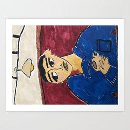 Cafe y crema Art Print