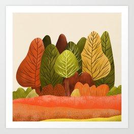 Autumn landscapes 1 Art Print