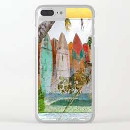 Surf fever Clear iPhone Case