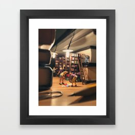 When Lovers Meet Framed Art Print