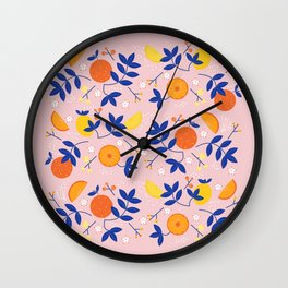 Summer is here- soft pattern Wall Clock