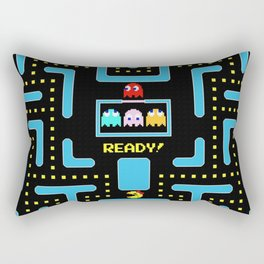 pac-man blue Rectangular Pillow
