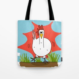 Eglantine la poule (the hen) when she just has coffee Tote Bag