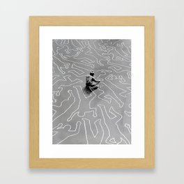 Draw the Line Framed Art Print