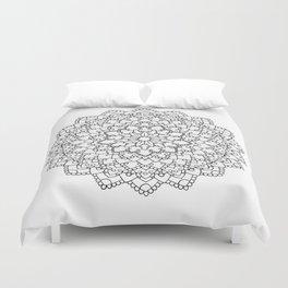 White Lace Mandala Duvet Cover