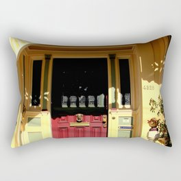 Stage Door - 1889 - No Soliciting Rectangular Pillow