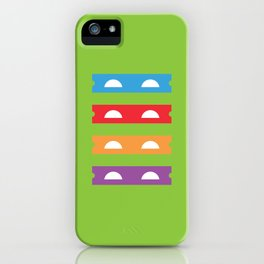 Teenage Minimal Ninja Turtles iPhone Case