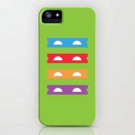 Teenage Minimal Ninja Turtles iPhone Case