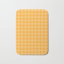 Yellow plaid Bath Mat