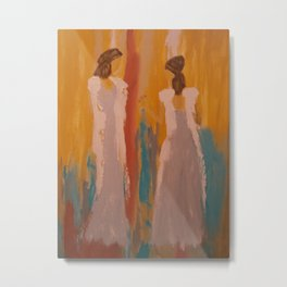 "Angel Painting, ""Sisters...A Peace Offering"" Metal Print"