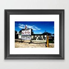 Pecan Smoked BBQ, Louisiana  Framed Art Print