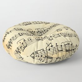 Antique Music Notes Floor Pillow