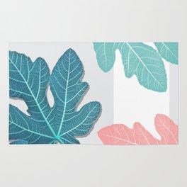 Colored Fig Tree Leaves Rug