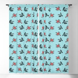 Parrot Pattern Blackout Curtain