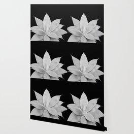 Gray Agave on Black #2 #tropical #decor #art #society6 Wallpaper