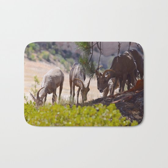 Desert Bighorn Sheep - Zion Bath Mat