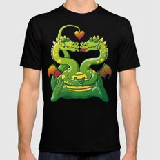 Dragons Madly in Love Black MEDIUM Mens Fitted Tee