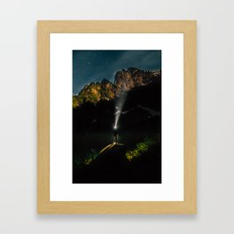 Starry Mountain Explorer Framed Art Print