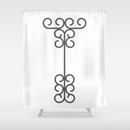 """Letter """"T"""" in beautiful design Fashion Modern Style Shower Curtain"""