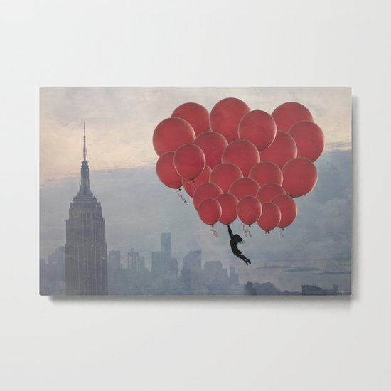 Floating over the City Metal Print