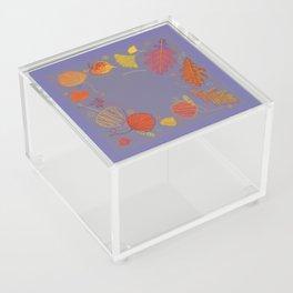 Doodle Leaves Acrylic Box