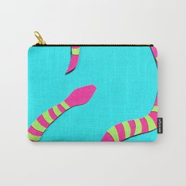 Turquois Snake Papercut Carry-All Pouch