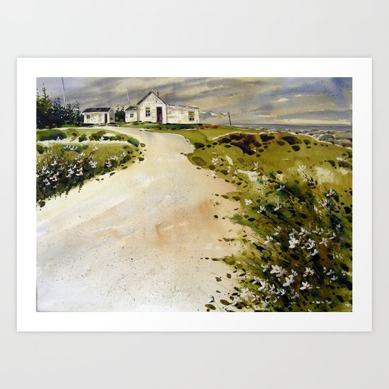 windswept coast Art Print