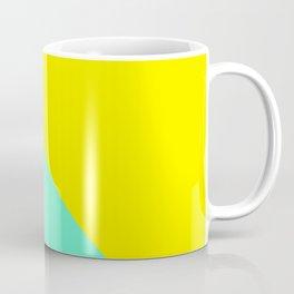 Modern bright lemon and mint color block Coffee Mug
