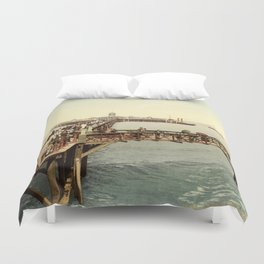 1890 Victorian Jetty in Margate Kent Duvet Cover