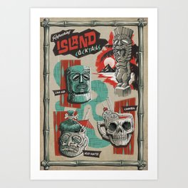 REFRESHING ISLAND COCKTAILS  Art Print