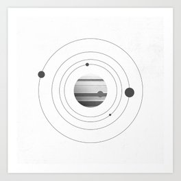 Moons of Jupiter Art Print