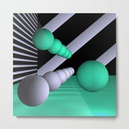 3D-geometry -10- Metal Print