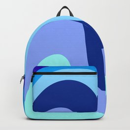 Retro Waves 1 (Blues) Backpack