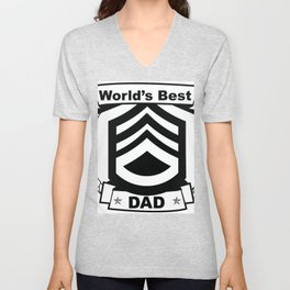 WORLD'S BEST DAD Abstract Art Unisex V-Neck