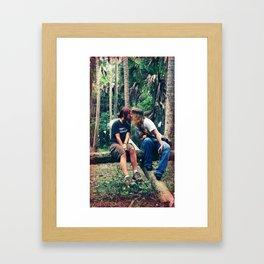 something sweet. Framed Art Print