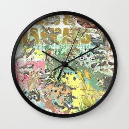 Bird Grid Paste Up Wall Clock