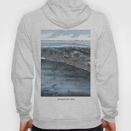 PROVINCETOWN MASSACHUSETTS city old map Father Day art print poster Hoody