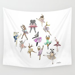 Animal Ballerinas Wall Tapestry