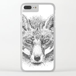 Skeptical Fox Clear iPhone Case