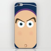 pixar iPhone & iPod Skins featuring PIXAR CHARACTER POSTER - Buzz Lightyear - Toy Story by Marco Calignano