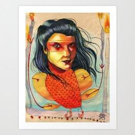 FIRE BIRD Art Print