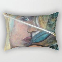 Linear Illusion Rectangular Pillow