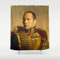 Dwayne (The Rock) Johnson - replaceface Shower Curtain