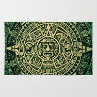 calendar Area & Throw Rugs featuring Mayan Calendar 2012 by Bob Pestana