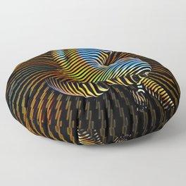 0727s-MM Sensual Abstract Figure Zebra Striped Op Art Nude Woman Back Butt Powerful Artwork Floor Pillow