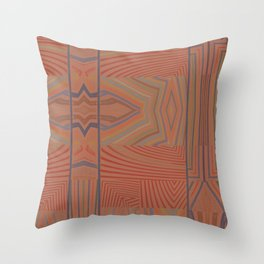 In My Tribe (Paprika) Throw Pillow